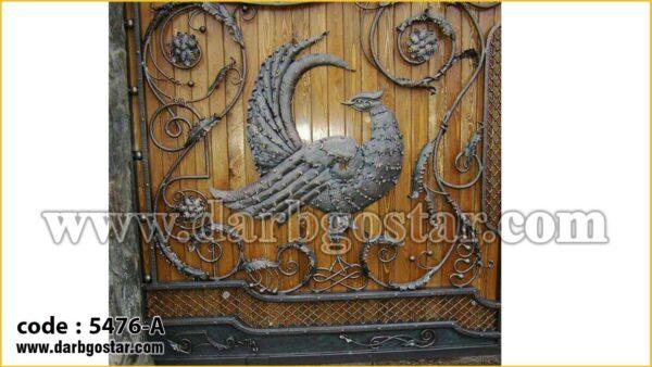 5476 A درب فلزی و چوبی شیک